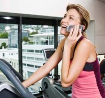 Talking on the phone while working out...really?!