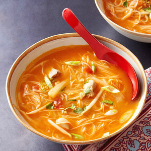 A healthy thai chicken soup