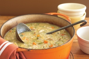 Hearty chicken and veg soup