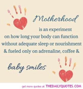motherhood is an experiment
