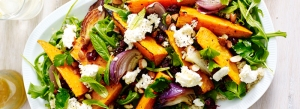 Roasted sweet potato and feta salad